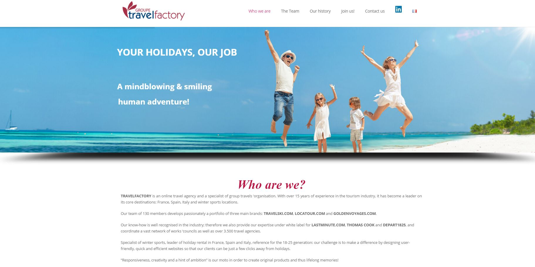 Travelfactory Website